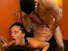 Steffi and Antje are swallowing big loads of cum