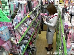 Naughty story at the Japanese store with Miki Torii