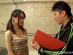 Shower fun with a petite Japanese whore Sayuri