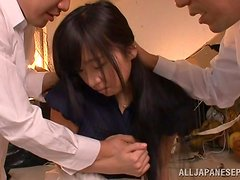 MMF threesome with a sizzling Japanese doll Wakaba
