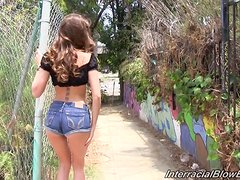 Stunning Remy LaCroix pleases a group of Blacks guys