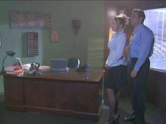 Boss Fucks His Blonde Secretary in His Office