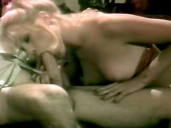 Chippy blondie Danielle gives her kinky man nice blowjob