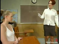 """Masochistic Bitch Teacher Gives A Master Class On """"Electricity Use On FemDom Play""""!"""