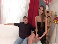 Slim chick provides her man with her super wet pussy