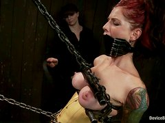 Gorgeous Tricia Oaks gets chained and dominated by Claire
