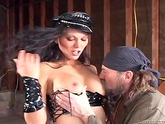 Biker man is owning this sizzling chick Ana Nova