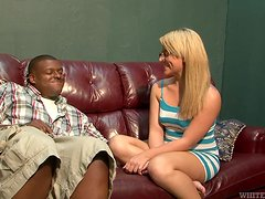 CUrvy star Casey Cumz is in interracial adventures
