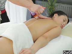 Massaging Hot Teen Before Jizzing On Her Face