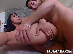 Exciting Asian dolly Mika Tan enjoys rough ass pounding