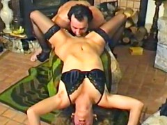Retro fuck with curly hair girl