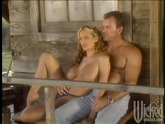 Horny Couple Fucking Hardcore Outdoors on their Porch