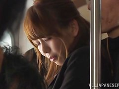 Chika Kitano gets fucked from behind in a public toilet