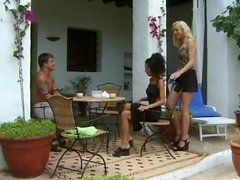 Yummy Emma E And Her Hot GF Go Hardcore With A Man In A FFM