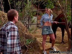 Amazing Sabrina Snow Has Forest Sex With A Horny Guy