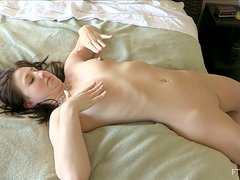 Curvy bunny Veronika loves touching herself so bad