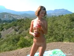 Stunning Maria And Ivan Go Hardcore Outdoors In An Amateur Video