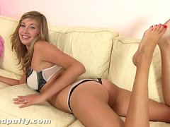Dildo is what she stuffs her hot beaver with