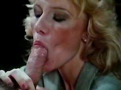 Kinky and slutty blondie sucks with nice face sucks the dick