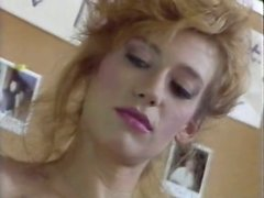 Naked and horny bitch drinks the water showing her ass