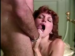 Horny and filthy mature bitch with nice ass gives a blowjob