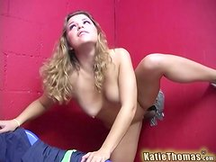 Yummy Blonde Gets Fucked Hard By A Black Man In A Gloryhole
