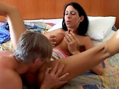 Awesome brunette was drilled in her anal