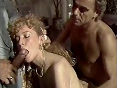 Horny and filthy bitch with curly hair gets fucked