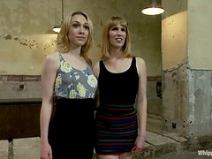 Two hot blondes enjoys being humiliated in an awesome BDSM clip
