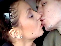 Enjoy Russian blowjob in the car