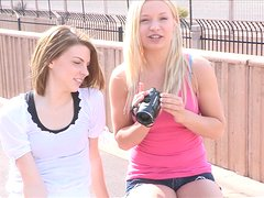 Nikkie And Aubrey Try A Little Lesbian Love Outdoors