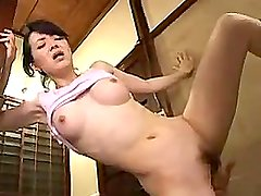 Japanese Housewife Caught In Bathroom