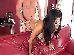 Bent over sex with a good creampie