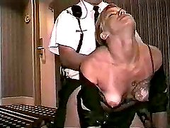 Security guard fucks amateur in hotel hallway