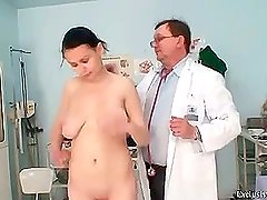 Ester get her holes filled at gyno exam