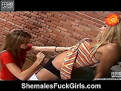 Dartily&Rafaela shemale fucks girl action
