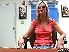 Kaylee Hilton gets fucked, after interview (Bang Bros » Facial Fest)
