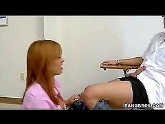 After that blowjob.., I bent her over the desk and... (Bang Bros » MILF Lessons)