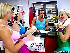 Trainer fucked Kimberly with help of her friends (Reality Kings » CFNM Secret)