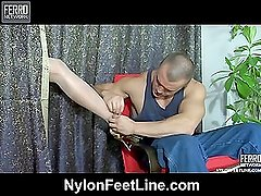 Clothilda&Nicholas nylon footfuck video