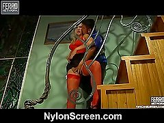 Flossie&Govard awesome nylon action