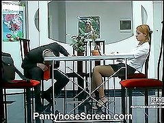 Antoinette&Maurice nasty pantyhose video