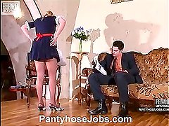Susanna&Adam pantyhose job video