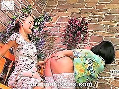 Stephana&Adrian female clothed couple in action