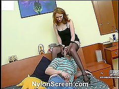 Irene&Adam horny nylon action