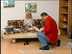Polly&Gilbert passionate nylon movie