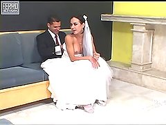 Calena mindblowing shemale bride