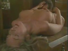 Classic porn films feature hairy pussy blonde