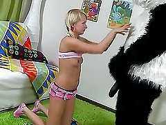 What would you do if your favorite panda teddy bear turned out to be alive and damn horny?