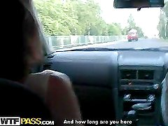 Unfathomable oral-job in the car and outdoors